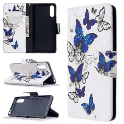 Flying Butterflies Leather Wallet Case for Sony Xperia L4