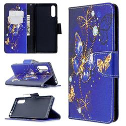 Purple Butterfly Leather Wallet Case for Sony Xperia L4