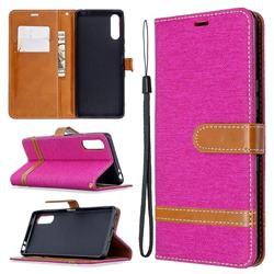 Jeans Cowboy Denim Leather Wallet Case for Sony Xperia L4 - Rose