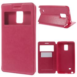 Roar Korea Noble View Leather Flip Cover for Samsung Galaxy Note Edge N915V N915A - Rose