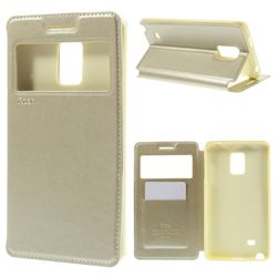 Roar Korea Noble View Leather Flip Cover for Samsung Galaxy Note Edge N915V N915A - Champagne