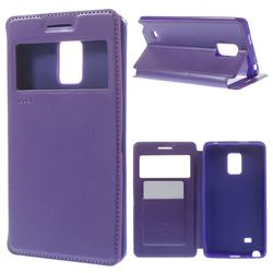Roar Korea Noble View Leather Flip Cover for Samsung Galaxy Note Edge N915V N915A - Purple