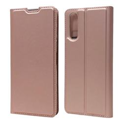 Ultra Slim Card Magnetic Automatic Suction Leather Wallet Case for Sony Xperia 10 II - Rose Gold