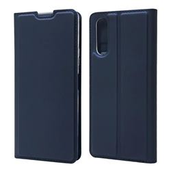 Ultra Slim Card Magnetic Automatic Suction Leather Wallet Case for Sony Xperia 10 II - Royal Blue