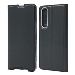 Ultra Slim Card Magnetic Automatic Suction Leather Wallet Case for Sony Xperia 1 II - Star Grey