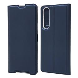 Ultra Slim Card Magnetic Automatic Suction Leather Wallet Case for Sony Xperia 1 II - Royal Blue