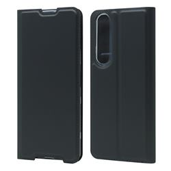 Ultra Slim Card Magnetic Automatic Suction Leather Wallet Case for Sony Xperia 1 III - Star Grey