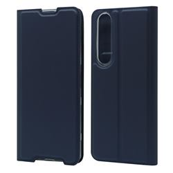 Ultra Slim Card Magnetic Automatic Suction Leather Wallet Case for Sony Xperia 1 III - Royal Blue