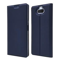 Ultra Slim Card Magnetic Automatic Suction Leather Wallet Case for Sony Xperia 20 - Royal Blue