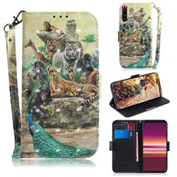 Beast Zoo 3D Painted Leather Wallet Phone Case for Sony Xperia 5