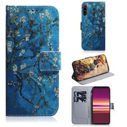 Apricot Tree PU Leather Wallet Case for Sony Xperia 5