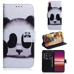 Sleeping Panda PU Leather Wallet Case for Sony Xperia 5