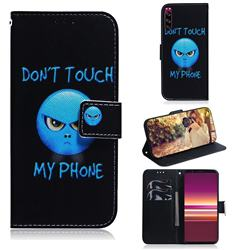 Not Touch My Phone PU Leather Wallet Case for Sony Xperia 5