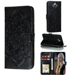 Intricate Embossing Datura Solar Leather Wallet Case for Sony Xperia 8 - Black