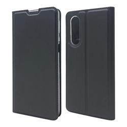 Ultra Slim Card Magnetic Automatic Suction Leather Wallet Case for Sharp Aquos zero5G basic SHG02 - Star Grey
