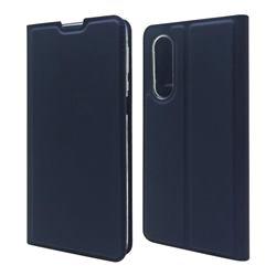 Ultra Slim Card Magnetic Automatic Suction Leather Wallet Case for Sharp Aquos zero5G basic SHG02 - Royal Blue