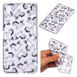 Pony Unicorn Super Clear Soft TPU Back Cover for Sony Xperia X