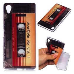 Retro Cassette Tape Super Clear Soft TPU Back Cover for Sony Xperia X