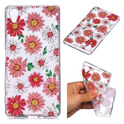 Chrysant Flower Super Clear Soft TPU Back Cover for Sony Xperia X