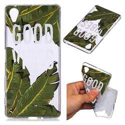 Good Vibes Banana Leaf Super Clear Soft TPU Back Cover for Sony Xperia X