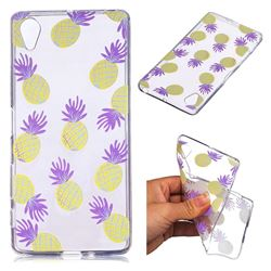 Carton Pineapple Super Clear Soft TPU Back Cover for Sony Xperia X