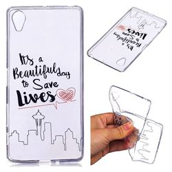 Line Castle Super Clear Soft TPU Back Cover for Sony Xperia X