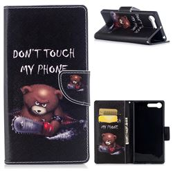 Chainsaw Bear Leather Wallet Case for Sony Xperia X1