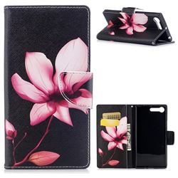 Lotus Flower Leather Wallet Case for Sony Xperia X1