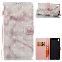 Beige Marble 3D Painted Leather Wallet Case for Sony Xperia XA