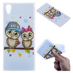 Couple Owls 3D Relief Matte Soft TPU Back Cover for Sony Xperia XA1