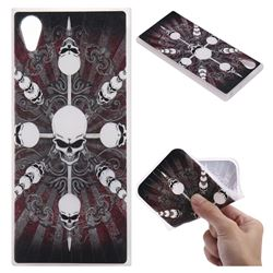 Compass Skulls 3D Relief Matte Soft TPU Back Cover for Sony Xperia XA1