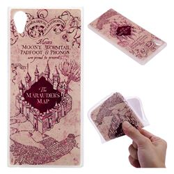 Castle The Marauders Map 3D Relief Matte Soft TPU Back Cover for Sony Xperia XA1