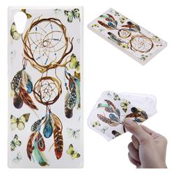Color Wind Chimes 3D Relief Matte Soft TPU Back Cover for Sony Xperia XA1