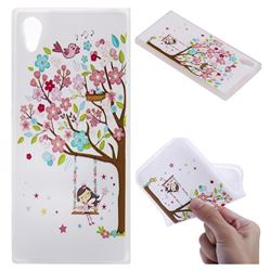 Tree and Girl 3D Relief Matte Soft TPU Back Cover for Sony Xperia XA1