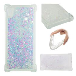 Dynamic Liquid Glitter Sand Quicksand Star TPU Case for Sony Xperia XA1 - Pink