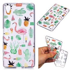 Cactus Flamingos Super Clear Soft TPU Back Cover for Sony Xperia XA1