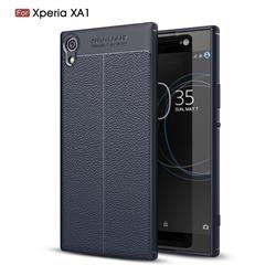 Luxury Auto Focus Litchi Texture Silicone TPU Back Cover for Sony Xperia XA1 - Dark Blue