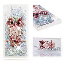 Seashell Owl Dynamic Liquid Glitter Quicksand Soft TPU Case for Sony Xperia XA1