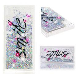 Smile Flower Dynamic Liquid Glitter Quicksand Soft TPU Case for Sony Xperia XA1