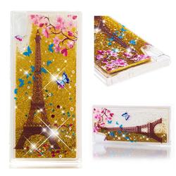 Golden Tower Dynamic Liquid Glitter Quicksand Soft TPU Case for Sony Xperia XA1