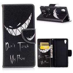 Crooked Grin Leather Wallet Case for Sony Xperia XA1