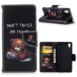 Chainsaw Bear Leather Wallet Case for Sony Xperia XA1