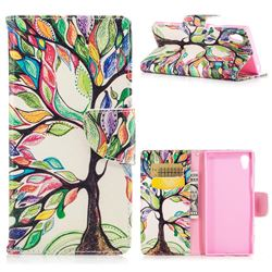 The Tree of Life Leather Wallet Case for Sony Xperia XA1