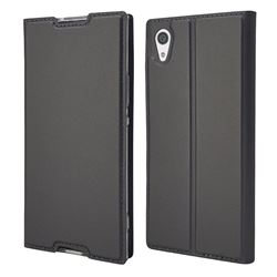 Ultra Slim Card Magnetic Automatic Suction Leather Wallet Case for Sony Xperia XA1 - Star Grey