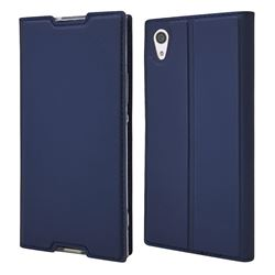 Ultra Slim Card Magnetic Automatic Suction Leather Wallet Case for Sony Xperia XA1 - Royal Blue