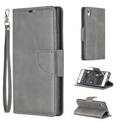 Classic Sheepskin PU Leather Phone Wallet Case for Sony Xperia XA1 - Gray