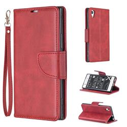 Classic Sheepskin PU Leather Phone Wallet Case for Sony Xperia XA1 - Red