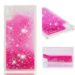Dynamic Liquid Glitter Quicksand Sequins TPU Phone Case for Sony Xperia XA1 Plus - Rose