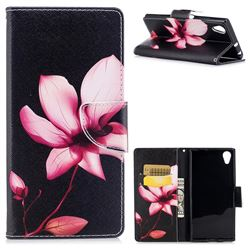 Lotus Flower Leather Wallet Case for Sony Xperia XA1 Plus
