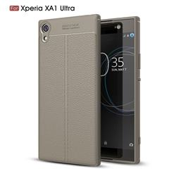 Luxury Auto Focus Litchi Texture Silicone TPU Back Cover for Sony Xperia XA1 Ultra - Gray